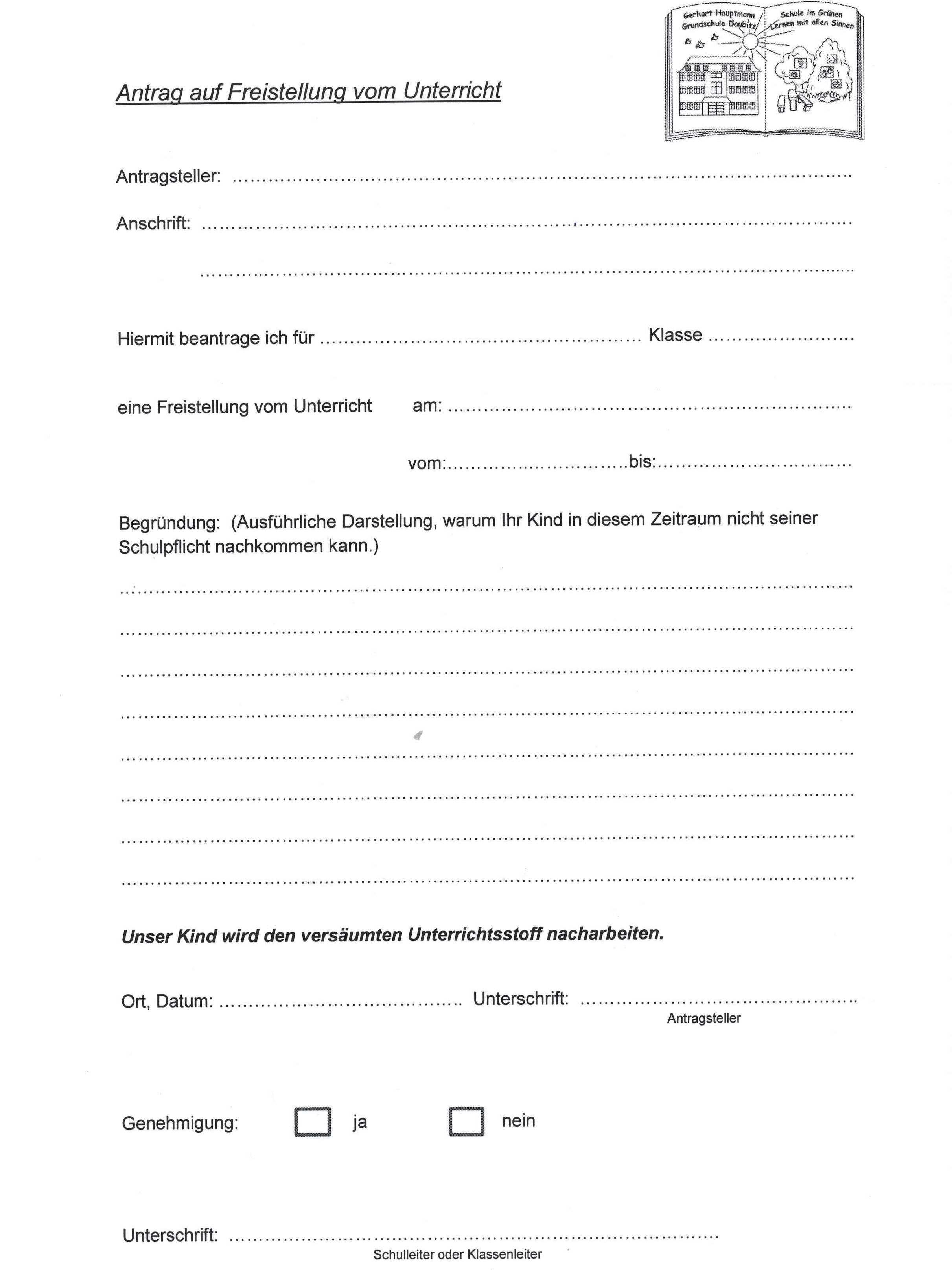 Grundschule Daubitz - Formulare